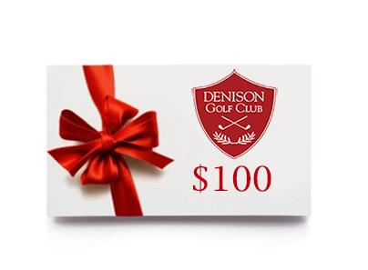 Denison Golf Club Gift Card - $100