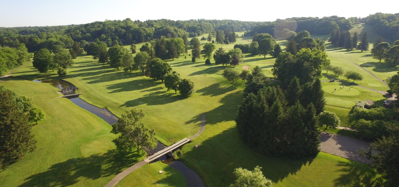 Aerial View of the Denison Golf Club Greens