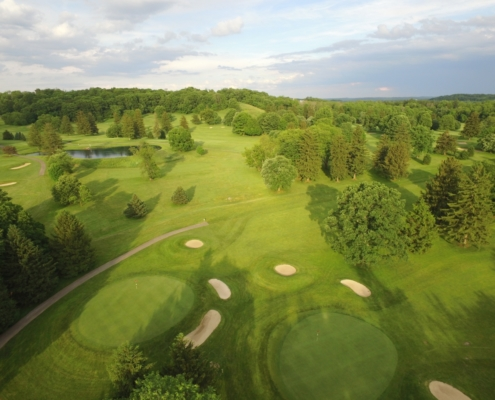 Aerial view of the Denison Golf Course
